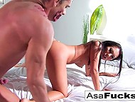 Big-tittied Asian Asa Akira woke up from nightmare then got fucked by zombie 9