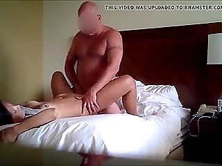 Hidden cam is set in bedroom not without purpose because married couple is already fucking