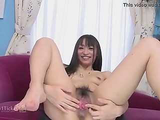 Man's thing easily enters juicy pussy of Japanese girlfriend after playing with vibrator