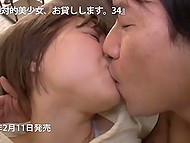 Amateur Japanese couple indulges in oral sex on the floor of their small apartment 8