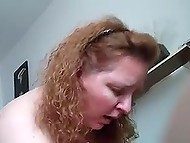 Man feels satisfied with fucking red-haired mature as well as with recording this action on camera 10