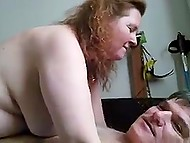 Man feels satisfied with fucking red-haired mature as well as with recording this action on camera 6