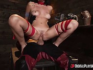 Superheroine allowed masked assailant to tie her limbs and fuck as hard as he could do 7