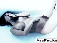 Seductive Asian pornstar has lost her mind and she has to snuff out her lust by herself 11