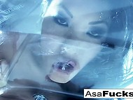 Seductive Asian pornstar has lost her mind and she has to snuff out her lust by herself 8