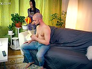 Chick has gone bankrupt and now she is working as maid and sometimes has sex with master 5