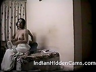 Hot Indian couple is having passionate sex in bedroom and everything is filmed on hidden cam