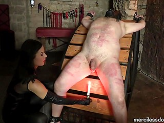 Fat guy adores to be a sex slave and serve his hot mistress to feel real pleasure