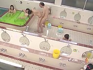 Old Japanese man finds the best way to use time remote controller in female sauna 10
