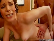Slutty secretary with deep throat quickly hung up phone to continue rough sex in office 11