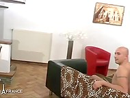Handsome guy invites his friend to fuck hot MILF from France and piss on her sexy body 3
