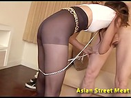 Long-legged Thai hooker serves to white master and fulfills all his naughty desires 4