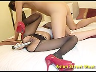Long-legged Thai hooker serves to white master and fulfills all his naughty desires 9