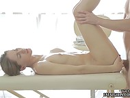 Russian masseur and sensuous client refuse from basic treatments in favor of anal sex in parlor 4