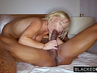 Insidious blonde with juicy tits comes to black man who wants to drill her precious hole 11