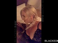 Insidious blonde with juicy tits comes to black man who wants to drill her precious hole 4