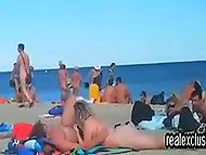 Voyeur was able to record the beach full of nudists doing public sex with no shame 3