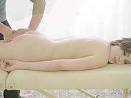 Massage is a great excuse to touch young woman all over and maybe even penetrate her pussy 6