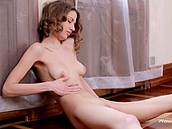 Tender fingers is all skinny girl needs to get complete sexual satisfaction on her own 10