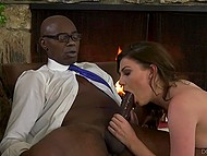 Promotion awaits but first, babe has to sexually satisfy black boss with great penis 3
