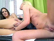 Hard fist is the main toy for lecherous young babes when it comes to have lesbian sex 8