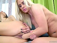 Hard fist is the main toy for lecherous young babes when it comes to have lesbian sex 9