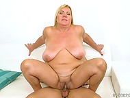 Passionate BBW is aged enough but still adores making it with much younger guys