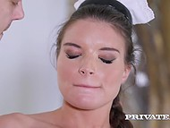 Buddy catches housemaid with dildo and they have awesome anal affair together 6