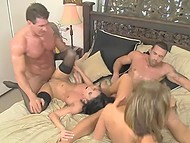Tricky girlfriends couldn't find better way to make their partners acquainted than swinger foursome 11