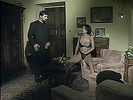 Vintage porn video of priest having sexual adventures with curvaceous parishioners 4