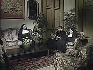 Vintage porn video of priest having sexual adventures with curvaceous parishioners 7