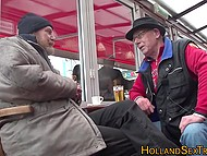 Old man with gray bear was able to cum after touching fiery Dutch hooker's goodies 3