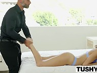 Skinny stepdaughter gives some hints to bearded stepfather about her lustful desires 4