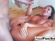 Asian pornstar Asa Akira wanted to give blowjob to BF while he was sleeping but he woke up