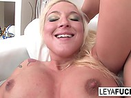 Guy has dumped busty Leya Falcon so now she has to get rid of stress through masturbation 11