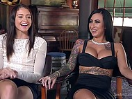 Lecherous babe came to BDSM porn filming and spent great time being fucked by master 5