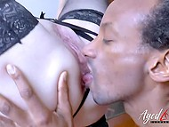 Mature female doctor has healed black patient and now must check his cock in work 8