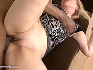 Middle-aged erotic woman loves feeling something big like black cock penetrating her asshole 11