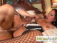 Sexy MILF with huge tits and booty wanted to enjoy thick cock of sex partner in pussy 8