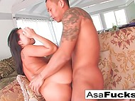 Young man acts very gently with Asian flame Asa Akira because she is such a sensitive MILF 6