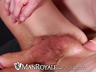 Young twink jerks off watching porn and roommate decides to help him receive pleasure 11