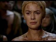 Lena Headey as Cersei Lannister gets her hair cut and takes walk of shame through indignant crowd 10