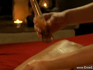 Good tutorial video is useful for girls, who want to gladden guys with oil massage 7