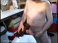 Farmer and young helper fucked French mature from behind and came over face 10