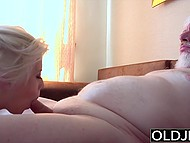 Old man paid lovely blonde for massage but in fact he just wanted to nail her tender pussy 11