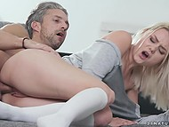 Delightful blonde wanted to make love and her man gladly realized this sexual desire 7
