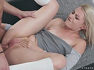 Delightful blonde wanted to make love and her man gladly realized this sexual desire 9