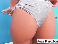 Hot Asian Asa Akira wants to get maximum pleasure and fingers pussy and ass at same time 4