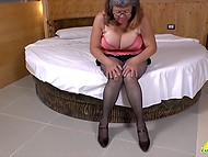 Mature minxes specially film solo video and every man can see how they play with pussies