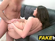 Teen Italian girl with long hair can't become model but she is really talented in treating hard cock 9